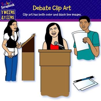Tweens & Teens: Debate Clip Art
