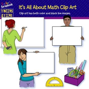 Tweens&Teens: It's All About Math Clip Art