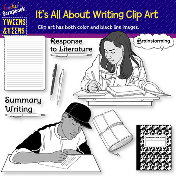 Tweens & Teens: It's All About Writing Clip Art