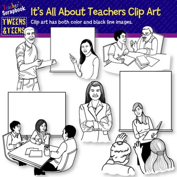 Tweens&Teens: Realistic Teachers Clip Art