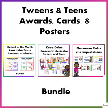 Tweens and Teens Awards, Cards & Posters Bundle