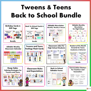 Tweens and Teens Back To School Resource Bundle