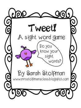 Tweet! A Sight Word Game