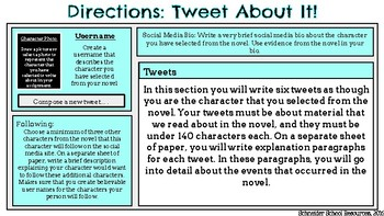 Tweet About It!: A Character Analysis Assignment