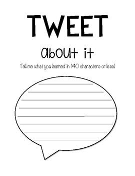Tweet About It - Exit Ticket
