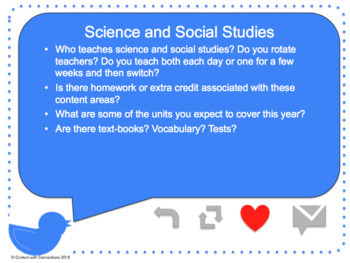 Open House Editable PowerPoint: Our Class is Something to Tweet About!