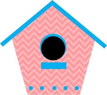 """Tweet"" Birdie Bird and Bird House Clip Art FREEBIE"
