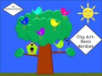 """Tweet"" Birdie Birds Clip Art and Bulletin Board"