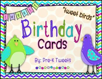 Tweet Birds Birthday Cards