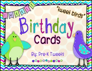 Tweet Birds Birthday Cards