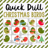 Quick Drill Christmas Birds {for speech therapy or any skill drill}