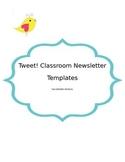 Tweet! Editable Boho Bird Classroom Newsletter Template