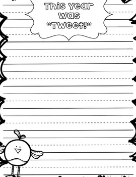 """Tweet"" End of the School Year Writing and Craft"