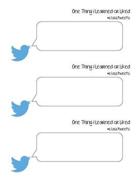 Tweet Exit Ticket