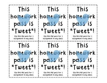 """""""Tweet"""" Homework Pass"""