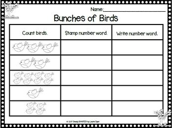 Tweet It, Stamp It!:  NO PREP Spring Themed Math Stamping Activities