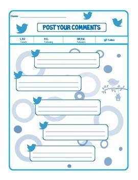 Tweet It!  Writing Template
