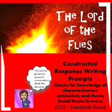 Lord of the Flies: Writing Prompts Constructed Response CCSS