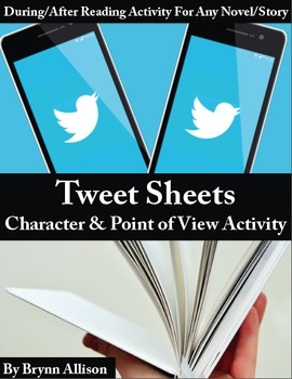 Character/Point of View Activity for Any Text: Tweet Sheet
