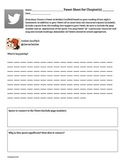 Tweet Sheet Do Now Activity for Catcher in the Rye