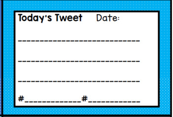 Tweet Sheets for Classroom Twitter