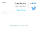 FREE! Famous American Twitter Templates