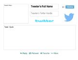 American Tweet Sheet Template
