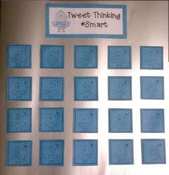 Tweet Thoughts Twitter Style Exit Ticket Display Board FREE