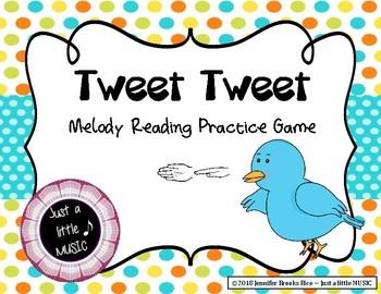Tweet Tweet - Bird Themed Melody Reading Practice Game {sol mi}