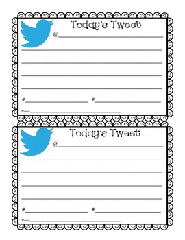 Tweet Tweet...Exit Ticket, Do-Now or Anything You Want