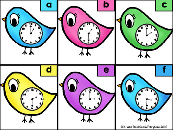 Tweet Tweet Time: Telling Time to the Hour & 1/2 Hour Center
