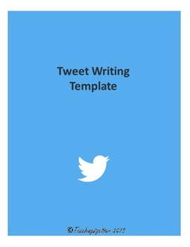 Tweet Writing Template