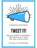 Tweet it! A quick and easy formative assessment.