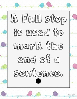 Tweet punctuation posters- Full stops and question marks