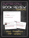 Tweet template for Twitter-style book reviews, chapter summaries, and more!