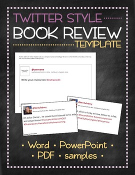 Tweet template for Twitter-style book reviews, chapter sum