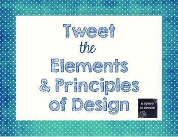Tweet the Elements and Principles of Art - Printable Worksheets