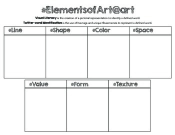 tweet the elements and principles of art printable worksheets tpt. Black Bedroom Furniture Sets. Home Design Ideas
