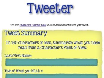 """""""Tweeter"""" Character Summaries"""