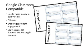 Tweeting Characters Thoughts and Emotions - Google Classroom Compatible