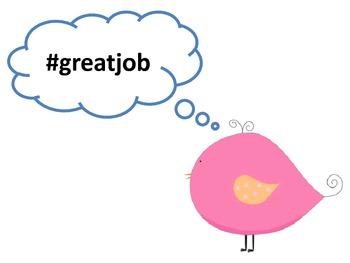"""Tweeting"" Great Work Bird Bulletin Board Set"