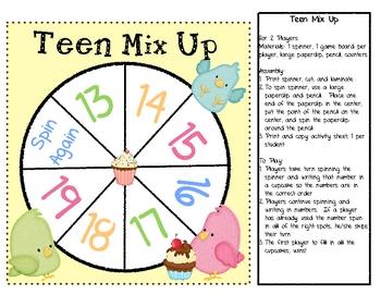 Tweeting Teens - Games & Activities for Teen Numbers
