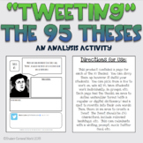 Tweeting the 95 Theses: An Analysis Activity