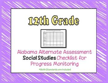 Twelfth Grade AAA Social Studies Checklist Progress Monitoring