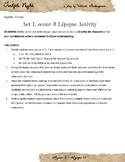 Twelfth Night - Act 1, scene 3 lipsync activity