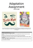 Twelfth Night Advanced English Adaptation assignment