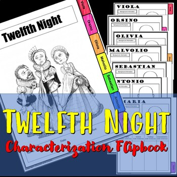 Twelfth Night Characterization Flip book