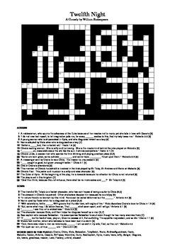 Twelfth Night - Crossword Puzzle