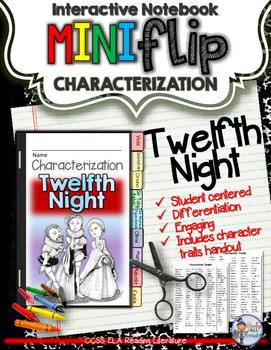 TWELFTH NIGHT: INTERACTIVE NOTEBOOK CHARACTERIZATION MINI FLIP