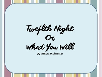 Twelfth Night Introduction